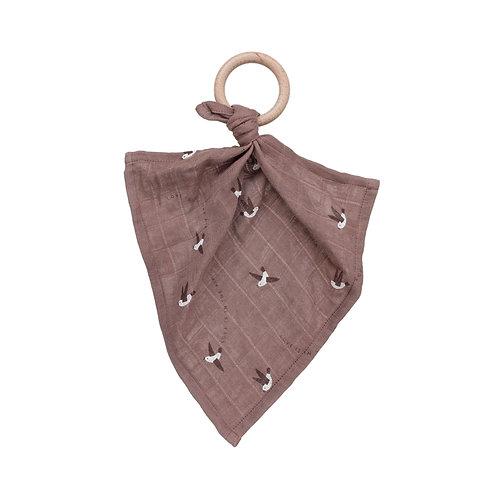 MAIN SAUVAGE Teether Muslin Cloth - Love