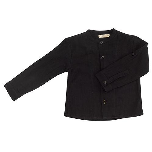 PIGEON ORGANICS Collarless Shirt Black
