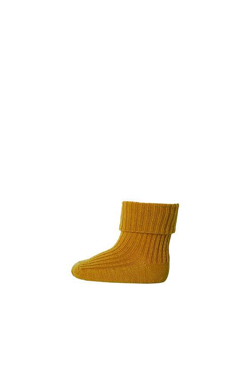 MP DENMARK Rib Wool Baby Socks - Golden Spice