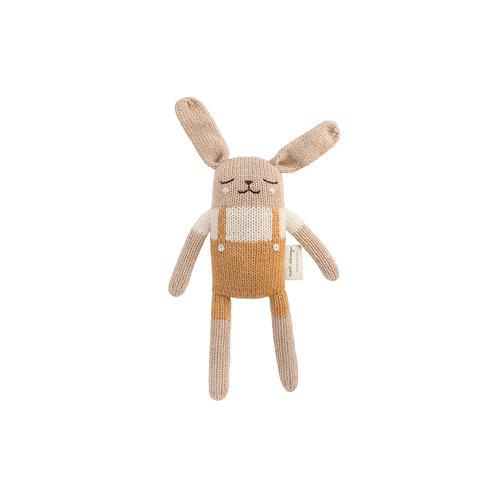 MAIN SAUVAGE Bunny Knit Toy - Mustard