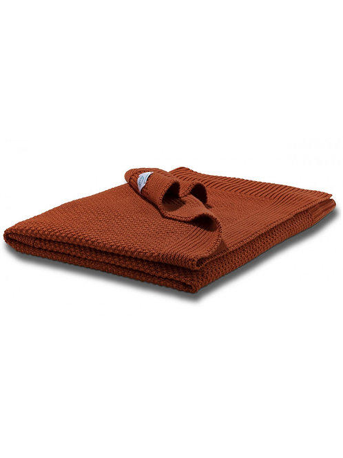MM Baby Blanket Moss Point - Rust
