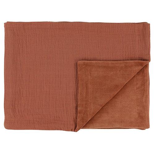 REVES D'ANAIS Fleece Blanket - Rust