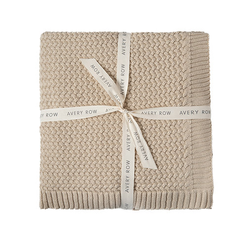 AVERY ROW Knitted Cotton Blanket