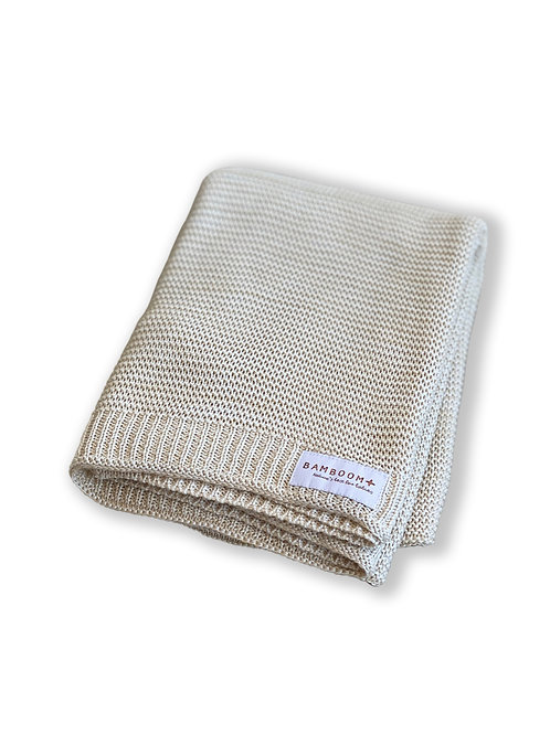 BAMBOOM Baby Knitted Blanket (Light Gold)