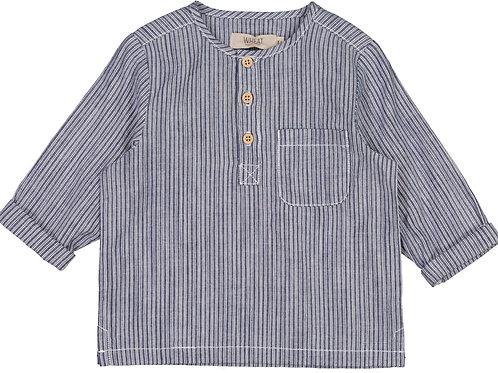 WHEAT Shirt Bjork Blue Stripe