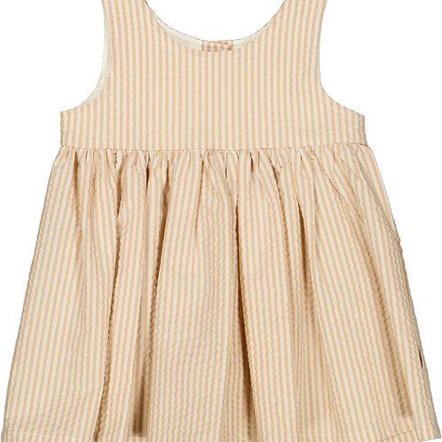 WHEAT Pinafore Dress Taffy Stripe