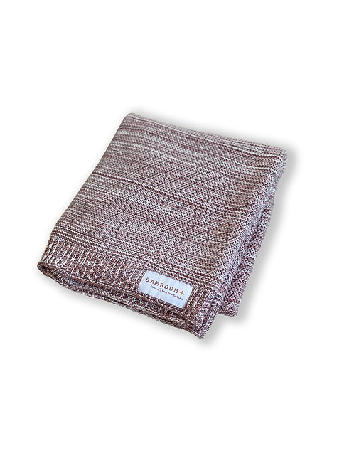BAMBOOM Baby Knitted Blanket (Brick)