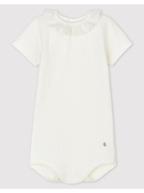 PETIT BATEAU Bodysuit Embroidery & Collar