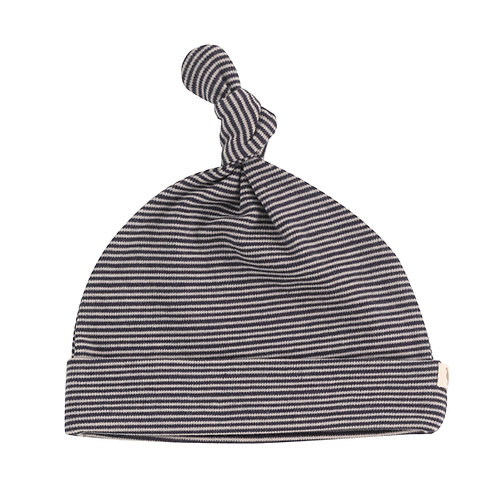 PIGEON ORGANICS Knotted Hat Fine Stripe (navy)