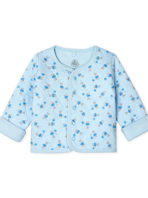 PETIT BATEAU Babies' Quilted Tube Knit Cardigan