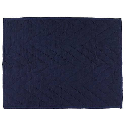 REVES D'ANAIS Cotton Blanket - Blue