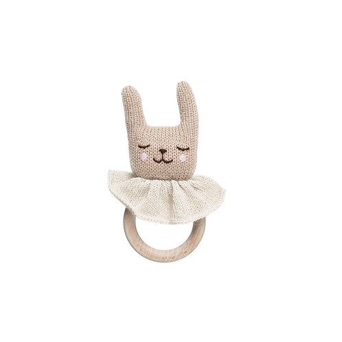 MAIN SAUVAGE Teething Ring - Rabbit