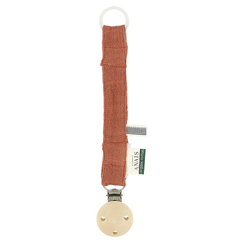 REVES D'ANAIS Pacifier Clip - Rust