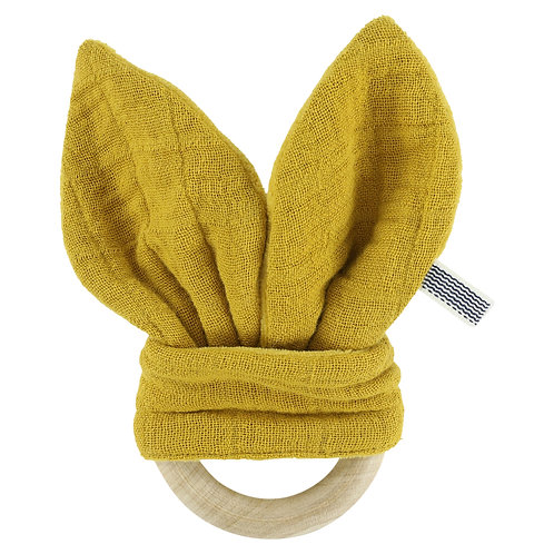 REVES D'ANAIS Teether - Mustard