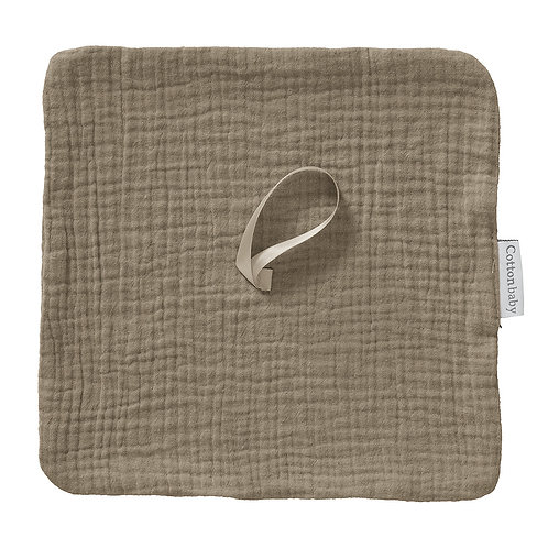 COTTONBABY Pacifier Cloth Taupe