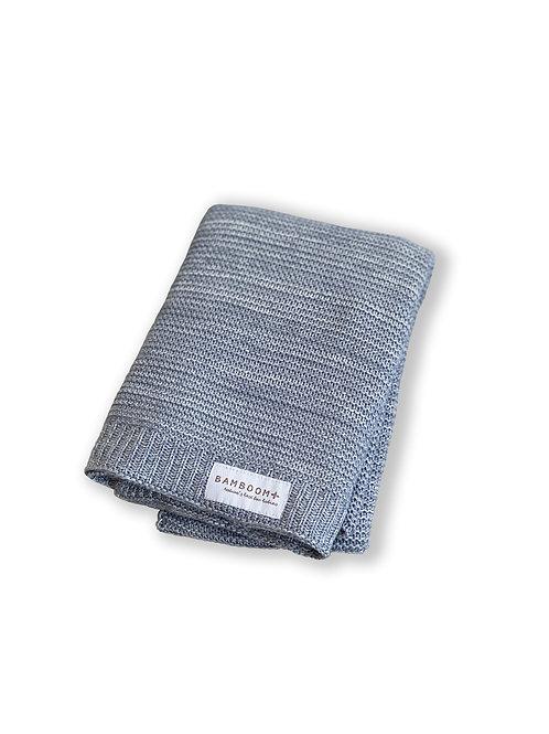BAMBOOM Baby Knitted Blanket (Grey Melange)