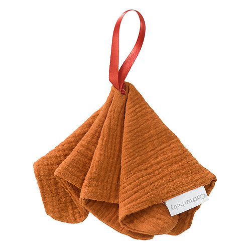 COTTONBABY Pacifier Cloth Rust