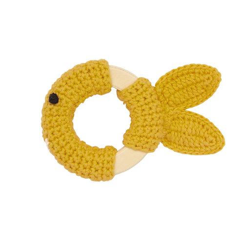 GLOBAL AFFAIRS Crochet Playring Yellow Fish