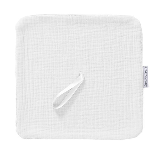 COTTONBABY Pacifier Cloth White