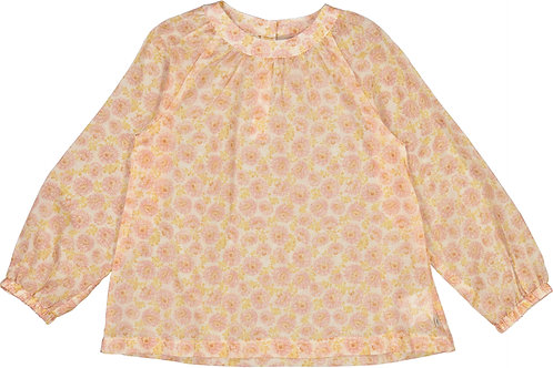 WHEAT Blouse Addie Rose Flowers