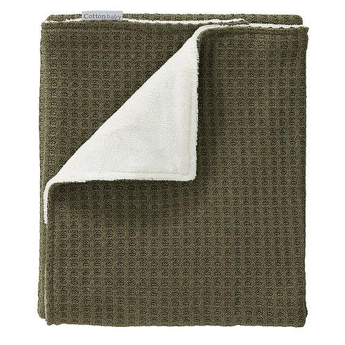 COTTONBABY Blanket Kaki Velvet
