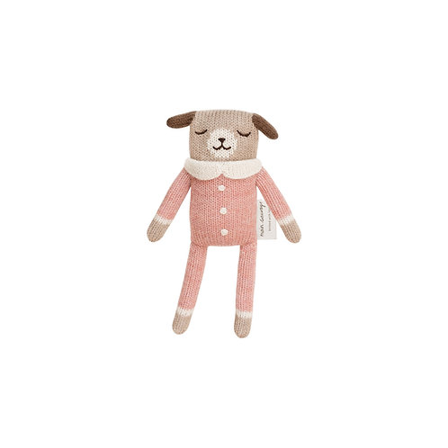 MAIN SAUVAGE Puppy Knit Toy - Rose