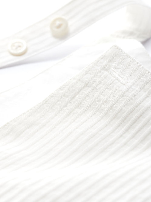 PETIT BATEAU Striped Dungaree Shorts