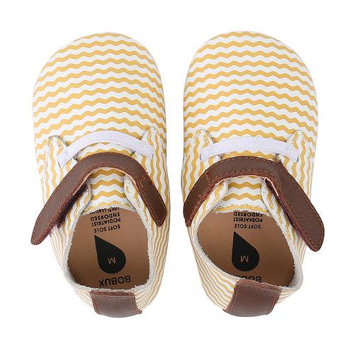 BOBUX Simple Shoe (White/Yellow)