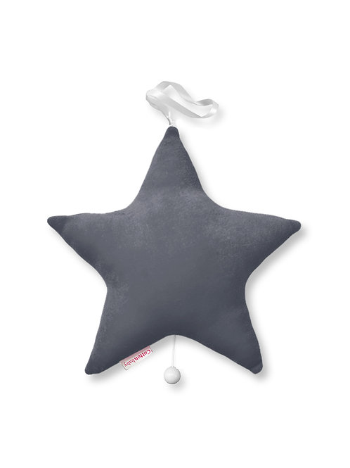 COTTONBABY Star Music Box Dark Grey