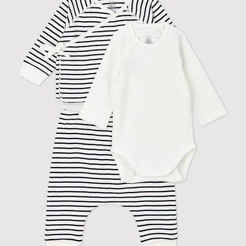 PETIT BATEAU Stripy Cotton Clothing Set (3 pieces)
