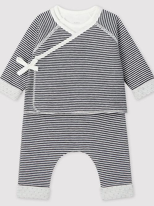PETIT BATEAU Baby's Tube Knit Three-Piece