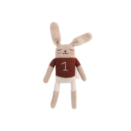 MAIN SAUVAGE Bunny Knit Toy - Sienna