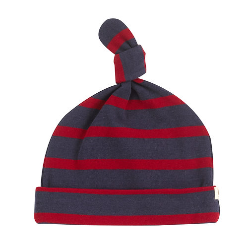 PIGEON ORGANICS Knotted Hat Breton Stripe (navy/red)