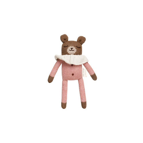 MAIN SAUVAGE Teddy Knit Toy - Rose