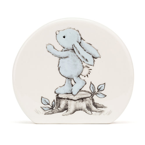JELLYCAT Bashful Blue Bunny Money Box