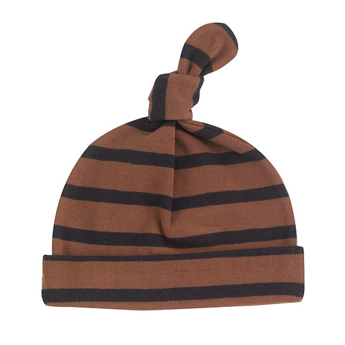 PIGEON ORGANICS Knotted Hat Breton Stripe (brown/black)