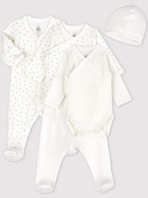 PETIT BATEAU Newborn Baby Kit (5 pieces)
