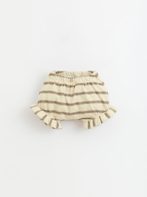 PLAY UP Striped Cotton Shorts