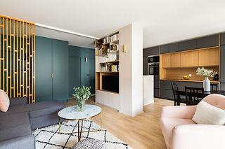 rénovation d'un appartement familial et design