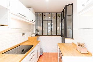 rénovation d'une cuisine avec verrière