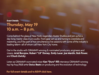 """Grammy Pro """"Art of the Craft-Sounds of the City"""""""