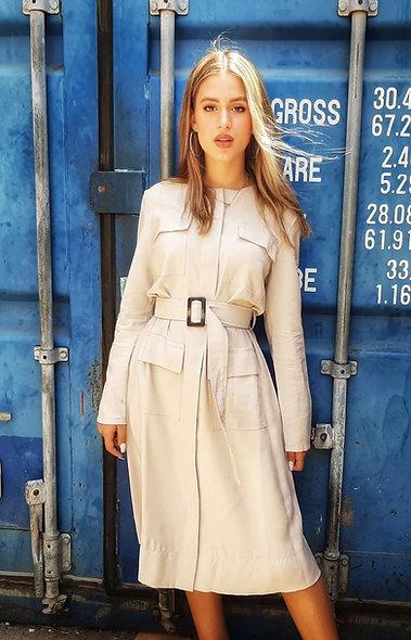 שמלת סידני בצבע אבן