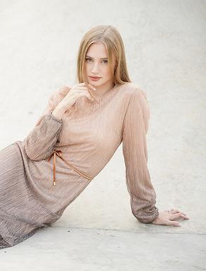 שמלת קיילי אפרסק