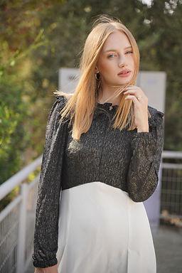 שמלת מילאנו בצבע שחור ושמנת