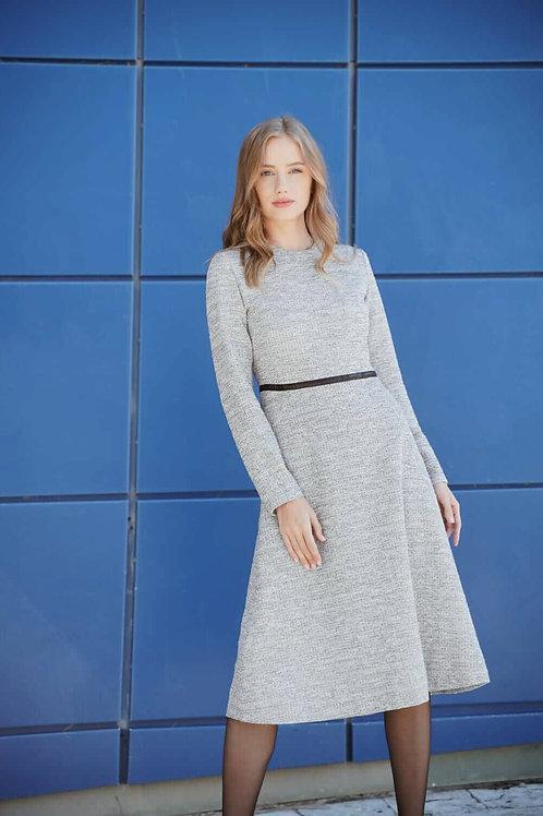 שמלת צמר אפורה
