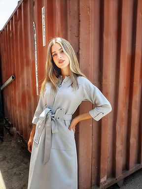שמלת ספארי בצבע מנטה