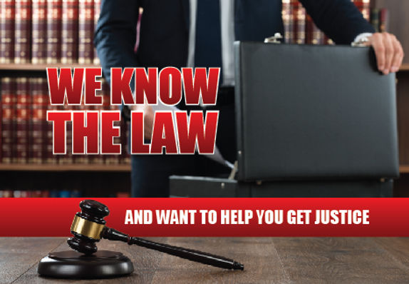 "Attorrney Postcard ""We Know The Law"""