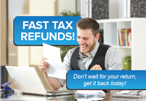Fast Tax Refund Postcard