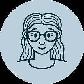 Vector illustration portrait of Sarah Morton.