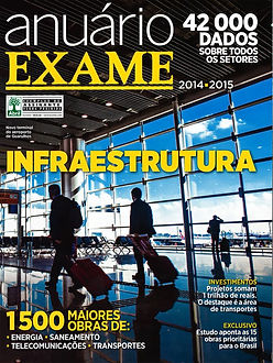 Ranking dos Aeroportos   capa revista Exame com estudo da Urban Systems Brasil